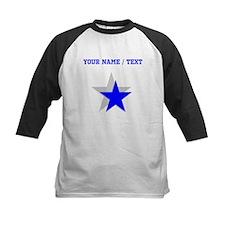 Custom Blue Shadow Star Baseball Jersey