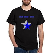 Custom Blue Shadow Star T-Shirt