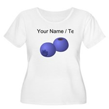 Custom Blueberries Plus Size T-Shirt