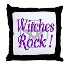 Witches Rock ! Throw Pillow