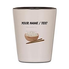 Custom White Rice Shot Glass