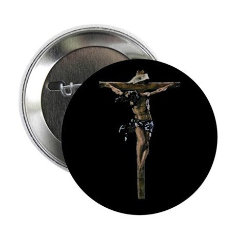 Jesus on the Cross Button