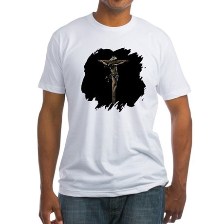 Jesus on the Cross Fitted T-Shirt