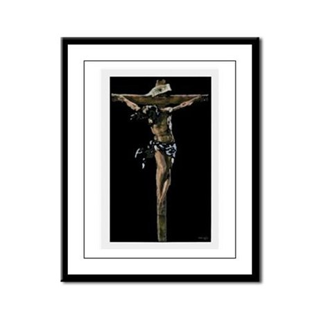 Jesus on the Cross Framed Panel Print