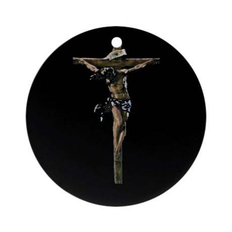 Jesus on the Cross Ornament (Round)