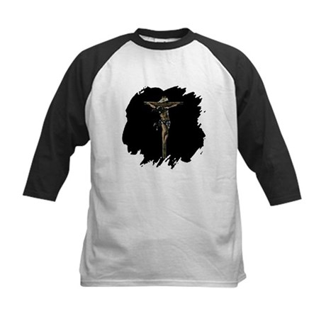 Jesus on the Cross Kids Baseball Jersey