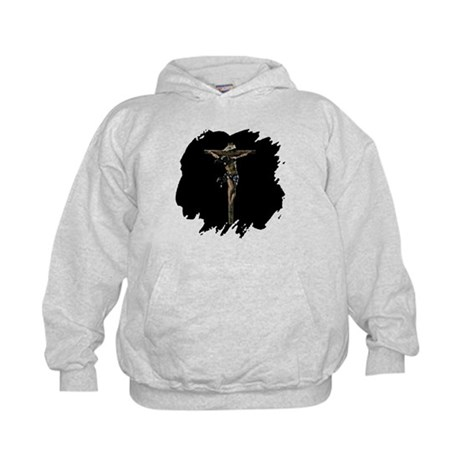 Jesus on the Cross Kids Hoodie