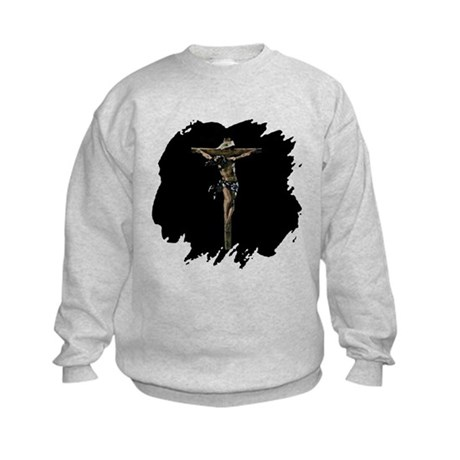 Jesus on the Cross Kids Sweatshirt