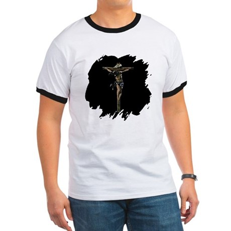 Jesus on the Cross Ringer T