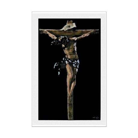 Jesus on the Cross Mini Poster Print