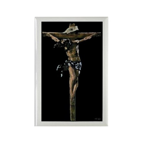 Jesus on the Cross Rectangle Magnet