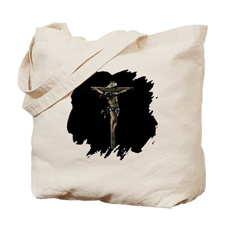 Jesus on the Cross Tote Bag