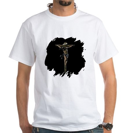 Jesus on the Cross White T-Shirt