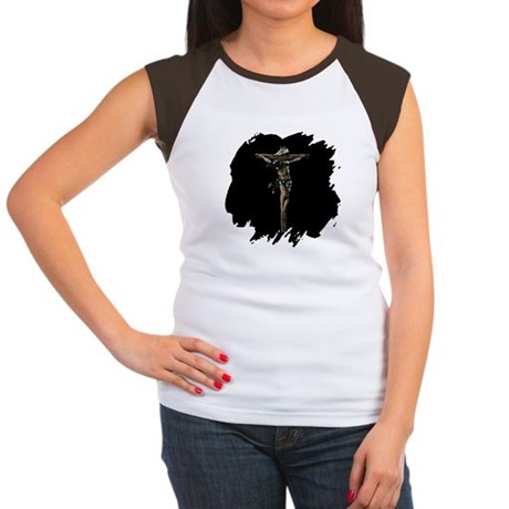 Jesus on the Cross Women's Cap Sleeve T-Shirt