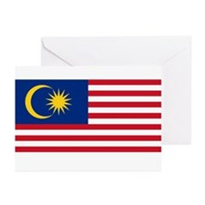 Malaysia Flag Greeting Cards (Pk of 10)
