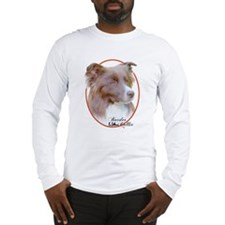 Red Border Collie Cameo Long Sleeve T-Shirt