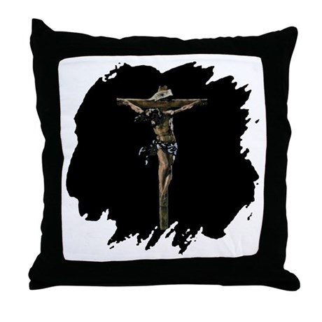 Jesus on the Cross Throw Pillow