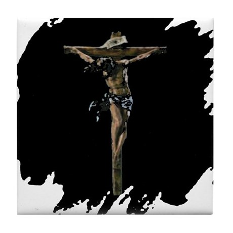 Jesus on the Cross Tile Coaster