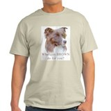 Border Collie BROWN Ash Grey T-Shirt