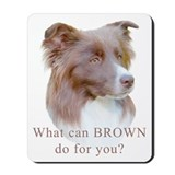Border Collie BROWN Mousepad