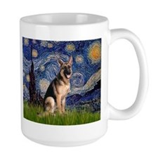 Starry Night & German Shepherd Mug