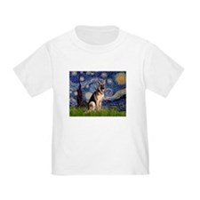 Starry Night & German Shepherd Toddler Tee