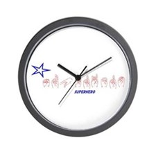 ASL Superhero Wall Clock