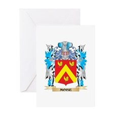 Moise Coat of Arms - Family Crest Greeting Cards
