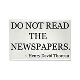Do Not Read Newspapers Rectangle Magnet (10 pack)