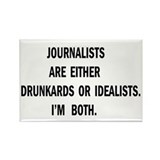 Journalists Drunkards Rectangle Magnet (10 pack)