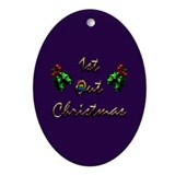 1st Out Christmas Gift Oval Ornament