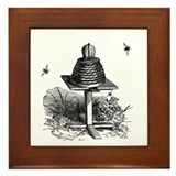 The Bee Hive Framed Tile