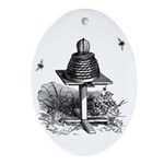The Bee Hive Oval Ornament