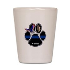 Cute Blue line Shot Glass