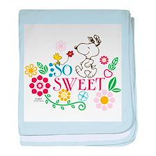 So Sweet - Snoopy baby blanket