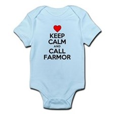 Keep Calm Call Farmor Body Suit