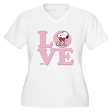 LOVE - Snoopy Plus Size T-Shirt