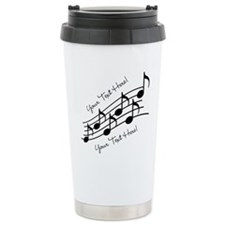 Music Notes PERSONALIZED Travel Mug