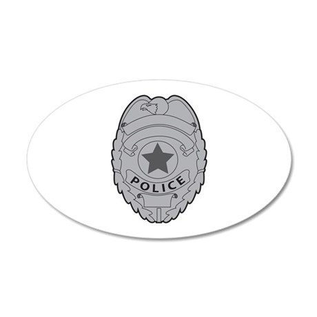 POLICE BADGE Wall Decal