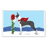 Great Dane Mantle Mail Rectangle Decal