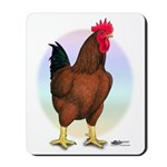 Red Broiler Rooster Mousepad