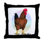 Red Broiler Rooster Throw Pillow