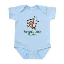 Farmor's Little Monkey Body Suit