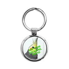 Custom Cockatiel Photo Round Keychain