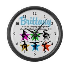 UPLIFTING GYMNAST Large Wall Clock