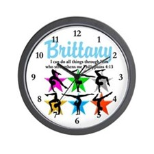 UPLIFTING GYMNAST Wall Clock