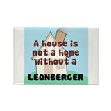 Leonberger Home Rectangle Magnet