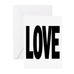 Message T LOVE Greeting Cards (Pk of 10)
