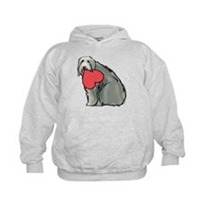Beardie with Heart Hoodie