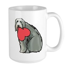 Beardie with Heart Mug